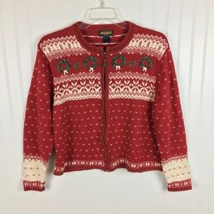 Vintage Woolrich Christmas Sweater Wreath Large